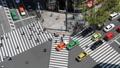 東京ランドスケイプ 銀座 数寄屋橋交差点 行き交う人と車 タイムラプス フィックス 30691284