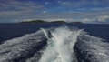 indian ocean and leaving boat trace on water 30987383