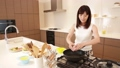 Video material Stock women to cook in the kitchen 31103385