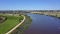Aerial video of flying along the Murray River in 31104894
