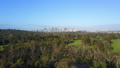 Aerial video of flying toward city CBD 31104909
