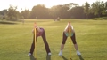 Pretty fit women doing exercises with body bars 31345919