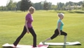 Senior fit women practicing yoga in the park 31346084