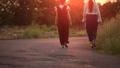 女性 夕暮れ 夕方の動画 31435919