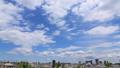 東京ランドスケイプ 住宅街と流れる雲 タイムラプス ティルトダウン 31519102