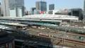 メガポリス東京 東京駅と行き交う列車 タイムラプス ズームアウト 31903246