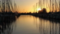 Dutch marina at sunset 32006740