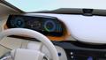 電気自動車のダッシュボードにワイヤレス充電しているスマホとヘッドフォン 32013603