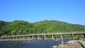 Arashiyama Togetsu橋樑在京都的初夏 32018756