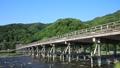 Arashiyama Togetsu橋樑在京都的初夏 32018757