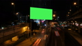 Advertising green screen with traffic at night. 32150910