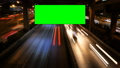 Advertising green screen with traffic at night. 32174728