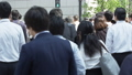 Crowd of Office Worker going to Work in Slow Mo 32461929