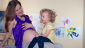 Family girls pregnant mother and toddler daughter 32541757