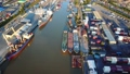 Aerial view of container ship in import export and 32724677