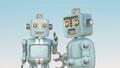 レトロロボットたちが楽しいおしゃべりに夢中 32753317