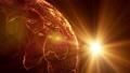 地球 地球儀 パーティクルの動画 32775476