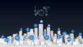 Things sensor icon on Smart city, typo 'IoT' 2. 32811697