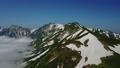 白馬岳 夏山 登山 絶景 ドローンで空撮 32860433