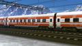 High speed train passing railway station 33033733