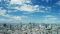 渋谷 新宿 恵比寿 東京タイムラプス 都心全景 ワイド 8月 夏空 パン 33076556