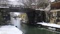 1月 雪化粧の近江八幡掘 33089749
