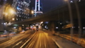 Hyper Lapse. Evening Streets of Hong Kong in a Mot 33291375