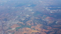 View from the airplane window. Flight over Italy 33633681