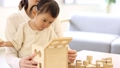 Mother and daughter (playing blocks) 33667712