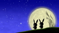 moon, watching, bunny 33777793