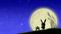 moon, watching, bunny 33777797
