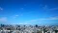 Tokyo downtown panoramic view Timelapse July Blue sky and clouds Title back Ideal for text space. fix 33813612