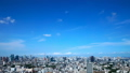 Tokyo downtown panoramic view Timelapse July Blue sky and clouds Title back Ideal for text space. Bread 33813613