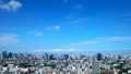 Tokyo downtown panoramic view Timelapse July Blue sky and clouds Title back Ideal for text space Narrow 33813615