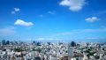 Tokyo downtown panoramic view Timelapse July Blue sky and clouds Title back Ideal for text space Zoom in 33813616