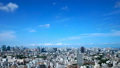 Tokyo downtown panoramic view Timelapse July Blue sky and clouds Title back Ideal for text space Zoom out 33813617
