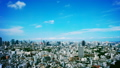 Tokyo downtown panoramic view Time-lapse July Blue sky and clouds Title back Ideal for text space Grading 33813618