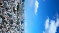 Vertical material Tokyo timelapse July blue sky and clouds pan 33813620