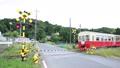 踏切と列車 里山トロッコ 34223977