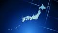 世界地图 - 日本地图视频最后2秒Loop Blue 34276239