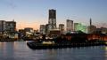 横浜トワイライト ライトアップ みなとみらい タイムラプス ズームイン 34677111
