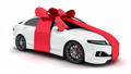 White car gift fall, and alpha channel. 3d render 34846741