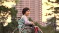 在轮椅和看看法的医疗场面资深开会 34973513