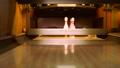 Three bowling pins on the lane 35086949