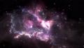 Space flight through nebula. Space travel 35137142
