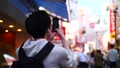 一个人独自旅行走在大阪市中心 35152161