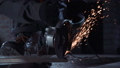 Angle grinder and sparks closeup 35206147