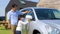 洗車 家族 自動車の動画 35447948