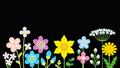 アルファチャンネル リズムに乗って揺れるカラフルな花々 35519630