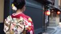 京都・祇園を歩く着物姿の女性の後ろ姿 35592966